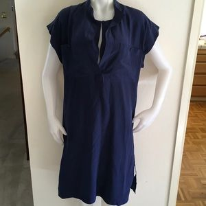 12 St by Cynthia Vincent Blue Silk Sz Med